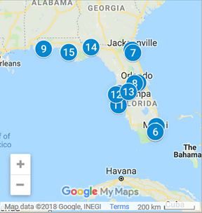 Florida Debt Consolidation Loan Providers Map