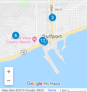 Gulfport Mississippi Debt Loan Providers Map