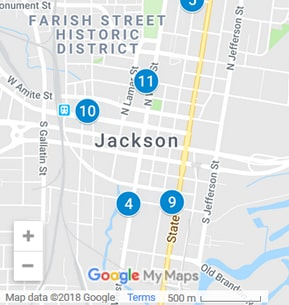 Jackson Mississippi Debt Loan Providers Map