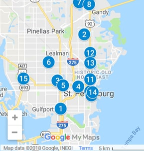 St Petersburg Florida Debt Loan Providers Map